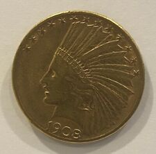 1908-D Indian Head $10 Eagle Gold Coin G$10