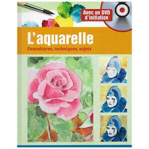 AQUARELLE COURS DE PEINTURE - LIVRE NEUF + DVD D'INITIATION - LOISIRS CREATIFS