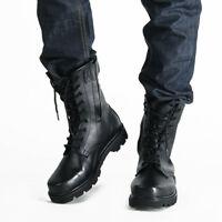 Nuove da uomo pelle stivali militari Tactical coi LACCI Martin J