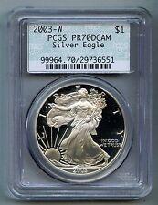 2003 W American Silver Eagle Dollar PCGS PR 70 DCAM