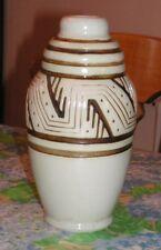 vase ovoïde en grès Mougin à Nancy, décor de Géo Condé