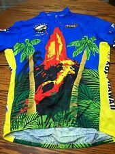 Primal Wear KONA Hawaii volcano 3/4 Zipper Short Sleeve Cycling Jersey XL