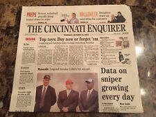 Pete Rose (Newspaper) - Pete Returns - 10/24/02 - Cincinnati Enquirer