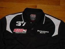 NWT Izod Indy Racing League Series Polo Shirt Black #37 Firestone-Racing Mens M