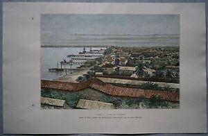 1887 Reclus print LAGOS, NIGERIA, WEST AFRICA (#39)