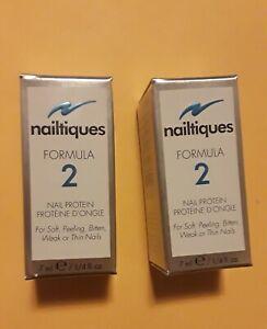 NAILTIQUES FORMULA 2 PROTEIN 7ml EACH (2 BOTTLES)