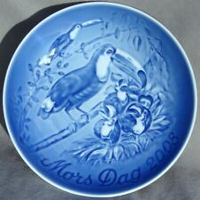 BING & GRONDAHL 2008 Mother's Day Plate B&G TOUCAN & CHICKS  Mothers Day