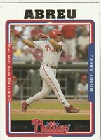 FREE SHIPPING-MINT-2005 Topps #194 Bobby Abreu Phillies PLUS BONUS CARDS