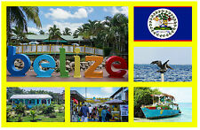 BELIZE - SOUVENIR NOVELTY FRIDGE MAGNET - FLAGS / SIGHTS - BRAND NEW / GIFT