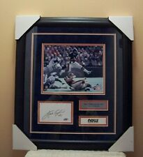 """Walter Payton Chicago Bears 22""""x19"""" framed autographed index card w/pic & COA"""