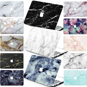 """Hard Marble Matt Cut-Out Laptop Case Cover For New Macbook Air Pro 11""""12""""13""""15"""