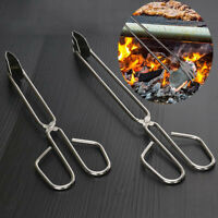 Stainless Steel Grilled Food Clip Barbecue Accessories BBQ Tongs Charcoal Clip