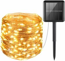100 LED Solar String Lights Waterproof Copper Wire Fairy Outdoor Garden Party