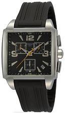 NWOT Mens Tissot Quadrato T0055171705700 Black Square Dial Rubber Strap Watch