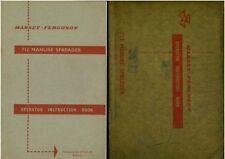 FERGUSON MUCK SPREADER INSTRUCTION BOOK   +  ENVELOPE ............ MANURE MANUAL