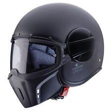 Caberg Ghost Motorrad Jet Helm Matt Schwarz Pinlock Visier Maske Chopper ECE2205