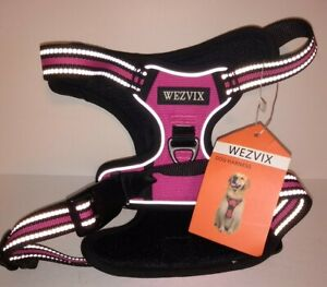 "Wezvix ""Hot Pink"" Reflective Lines Dog Harness Medium New with Tags & Adjustable"