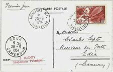 BIRDS - POSTAL HISTORY - MADAGASCAR : STAMPS on POSTCARD to CAMEROUN 1954 - FDC!