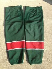 Minnesota Wild REEBOK Edge Pro Stock Hockey Shin Pad Socks XL Green 1000