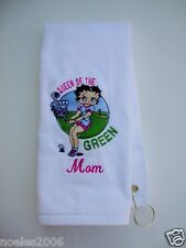 Personalized Embroidered Golf Bowling Hand Towel Betty Boop Golfing