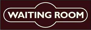METAL RAILWAY SIGN - WAITING ROOM  (DOOR SIGN) STATION