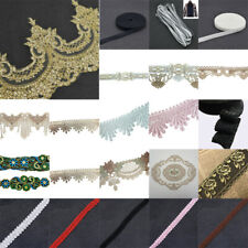 DIY Lace Trim Ribbon Crochet Applique Embroidered Sewing Wedding Cloth Craft