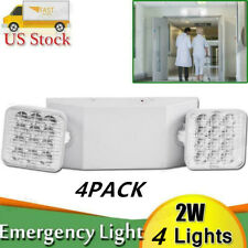 New Listing4pcs Led Emergency Exit Light Double Dual Head Home Office Market Ul Lighting Us