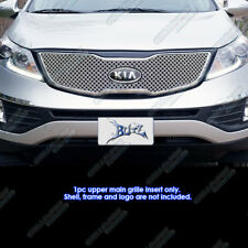 For 2011-2014 Kia Sportage Stainless Steel Double Wire X Mesh Grille Grill