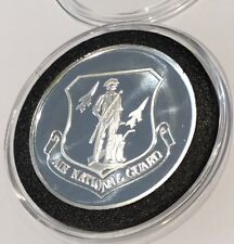 USA Air National Guard 1 Troy Oz .999 Fine Silver Ag Coin Round Medal Ingot Gift