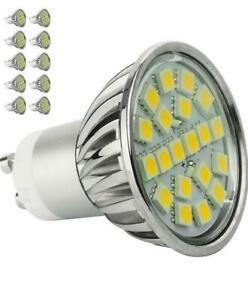 10 x LED GU10 WARM WHITE Energy Saving Light Bulb Spotlight  **ONLY £1.10 EACH**