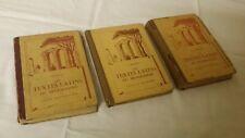 3 Anciens Livres scolaire les TEXTES LATINS programme 5°- 4°- 3°