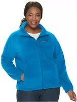 NWT Women's Columbia Benton Springs Full Zip Fleece In Blue Size 2XL