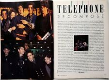 Le groupe TELEPHONE => COUPURE DE PRESSE 6 PAGES 1987 / French clipping