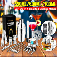 22pcs Cocktail Shaker Boston Maker Bartender Drink Martini Mixer Making Tool Bar