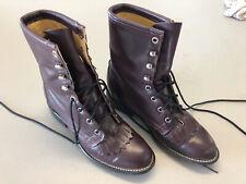 Laredo Womens Sz 6.5 M Burgundy Roper Western Riding Ankle Boots