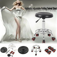 Black Adjustable Hydraulic Rolling Swivel Stool Tattoo Facial Massage Spa Salon