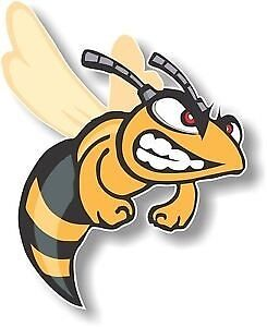 Vinyl sticker /decal Large 180mm angry hornet - facing right
