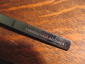 Continental Airlines Spoon - Vintage 1980's CAL CO Airplane Airline Silverware