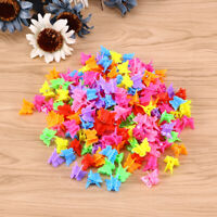 100 Hair Mini Claw Clips Butterfly Clamp Jaw Riser Bulldog Clamp Mix Color