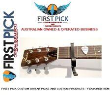 GUITAR CAPO -  (FIRST PICK CUSTOM GUITAR PICKS) Acoustic or Electric Guitar