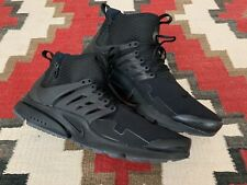 Men's NIKE Air Presto Mid Utility Black Dark Gray Running Shoes US 13 859524-006