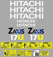 Decal Sticker Graphics set for: HITACHI ZAXIS 17U. Mini Digger Pelle Excavator