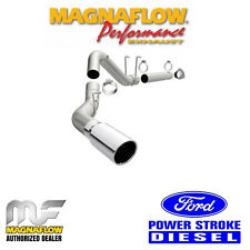 """MAGNAFLOW 4"""" DPF Back Single Exhaust 2011-2018 Ford F250 F350 6.7L Powerstroke"""