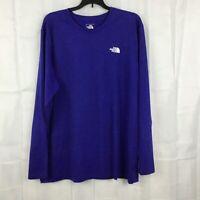 The North Face Men's Flashdry Long Sleeve Shirt Size XL Purplish-Blue