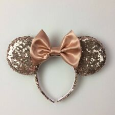Rose Gold Sequin Minnie Mouse Handmade Ears, Mickey Mouse Ears, Sequin Mouse