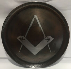 Copper And Pewter MASONIC design Plate