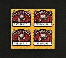 State of Alabama Alcoholic Beverage Tax Stamps Block of 4 MNH