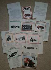 Cast Compact Tractor Bundle (8 Leaflets/ brochures pricelist & 2 letter 1972)