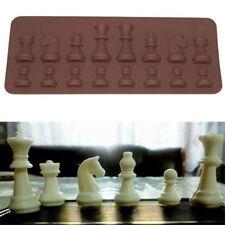 Silicone Baking Tool Chocolate Sugar Cake Mold Chess Shaped Ice Mini Cube Tray