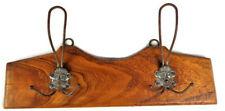Wooden Coat Hanger with Metal Hooks, Vintage Hat Racks